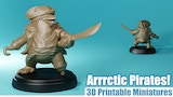 Arrrctic Pirates! - 3D printable miniatures thumbnail