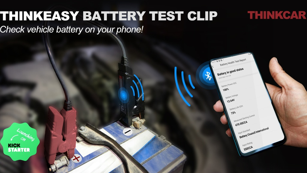 THINKEASY, Check Automotive Battery On Your Phone.