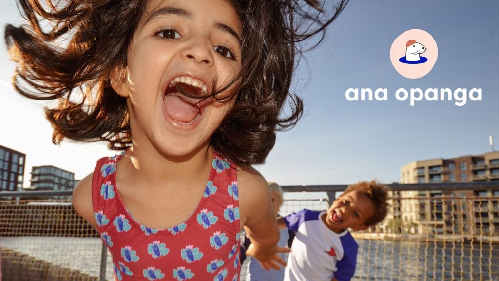 Ana Opanga - Colorful swimwear with prints made by children