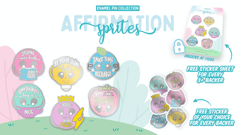 Affirmation Sprites Enamel Pin Set