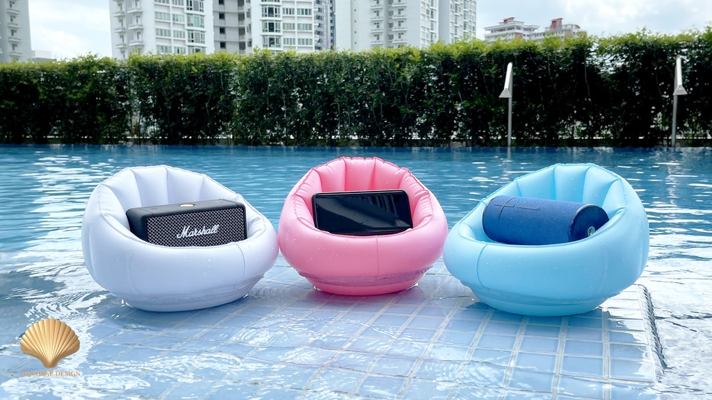 OSERAS, the smartphone and speaker pool inflatable holder