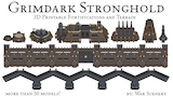 Grimdark Stronghold - 3D Printable Fortification and Terrain thumbnail