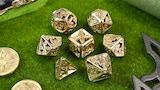 Xinobi Dice - Ninja throwing stars- Cast metal dice for RPGs thumbnail