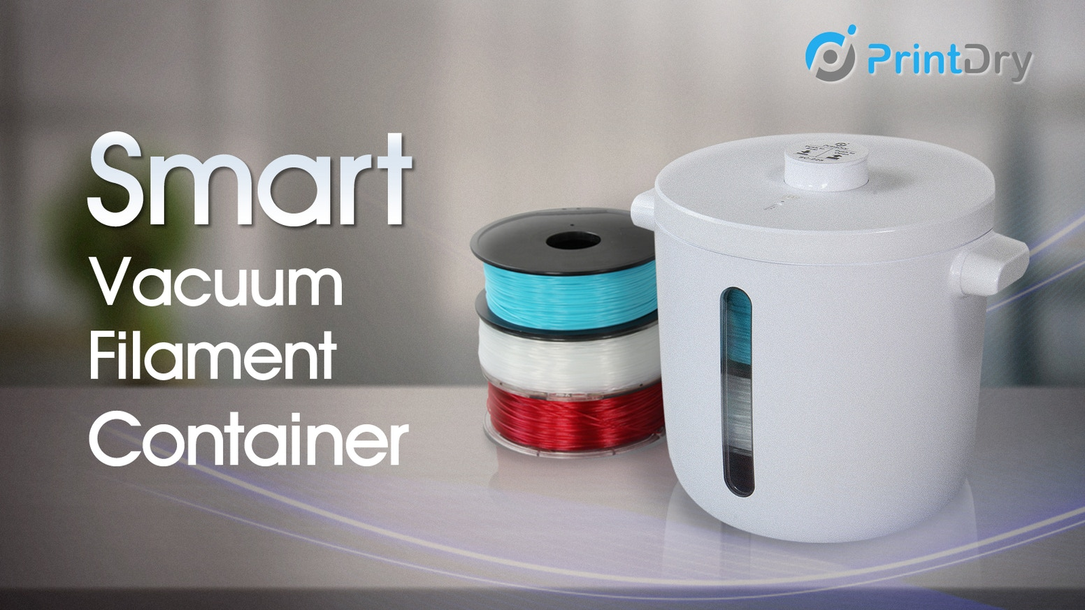 One-Touch Sealing & Auto Re-Sealing -- Smart Filament Storage Solution