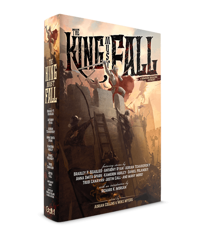 Cover mock up for The King Must Fall