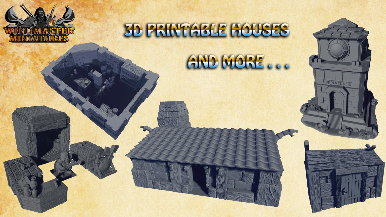 3D Printable Houses and more... by Windmaster Miniatures — Kickstarter