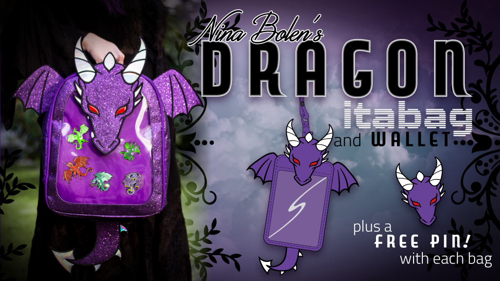 Dragon Ita Bag Backpack & Ita Wallet. Plus enamel pins!