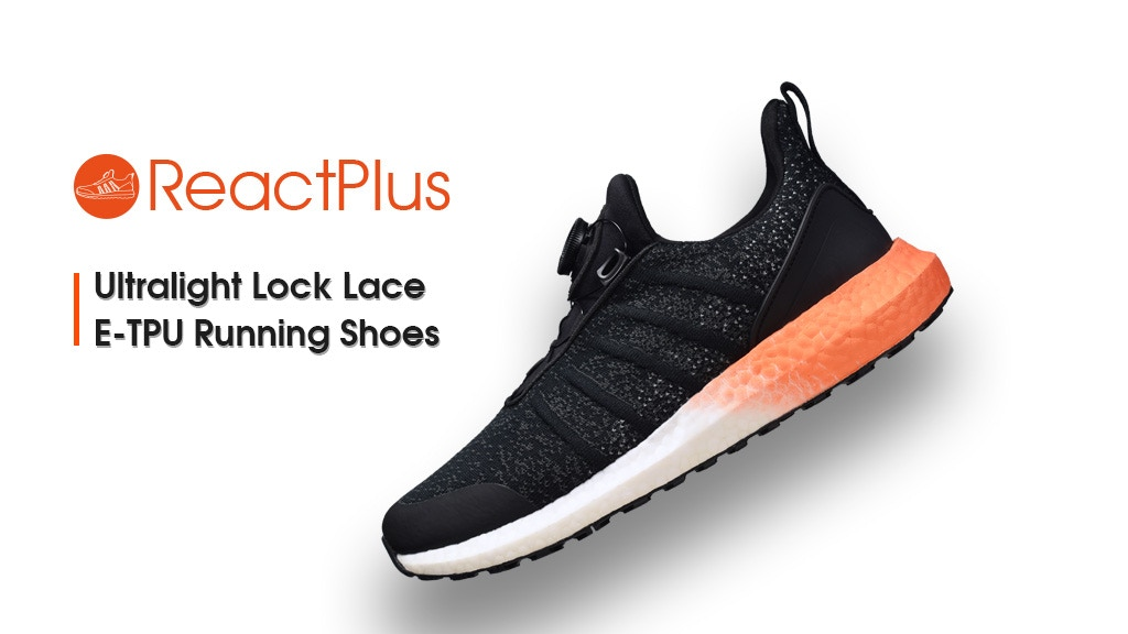 ReactPlus: World's 1st Ultralight Lock Lace Running Shoes