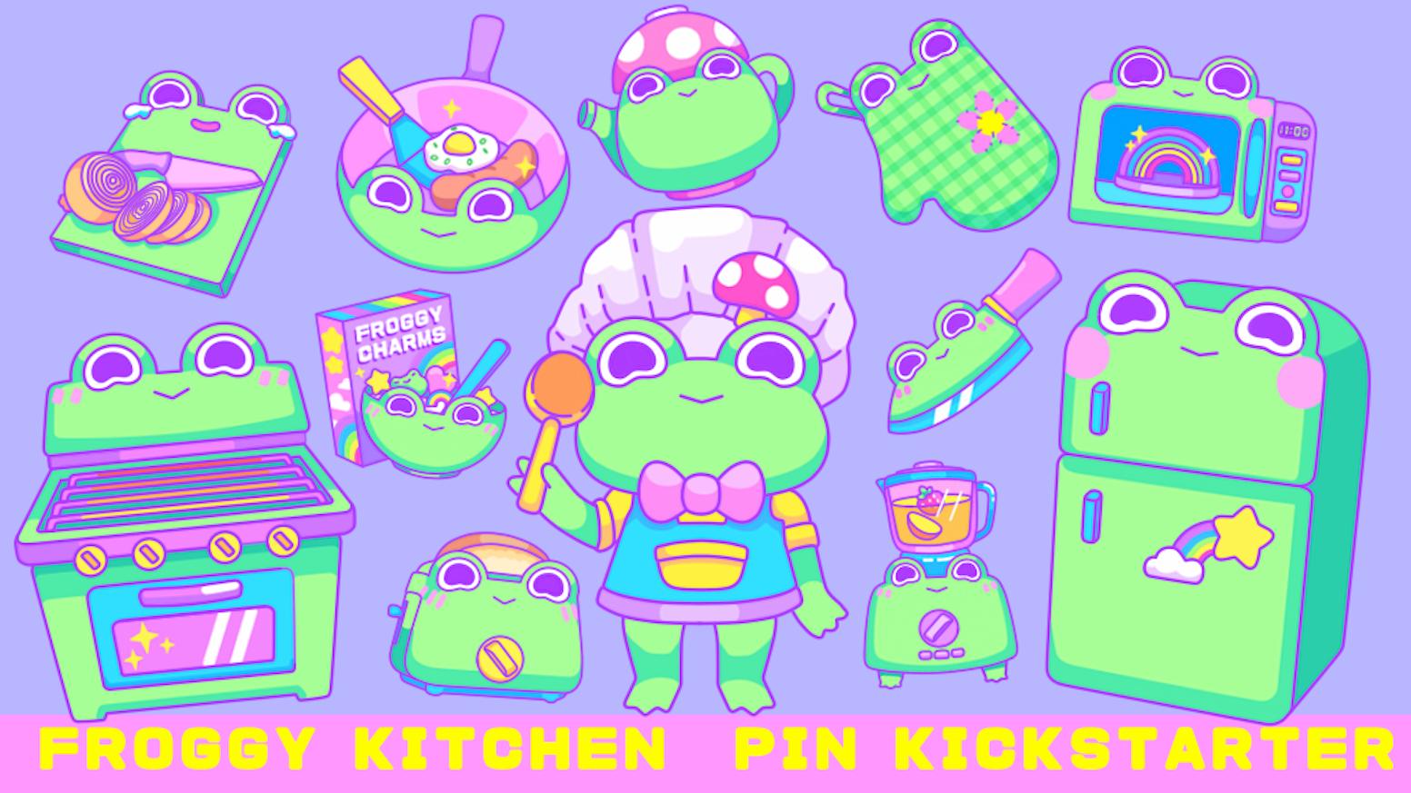 Froggy Kitchen Acrylic Pins by Kirakirakarakasa — Kickstarter