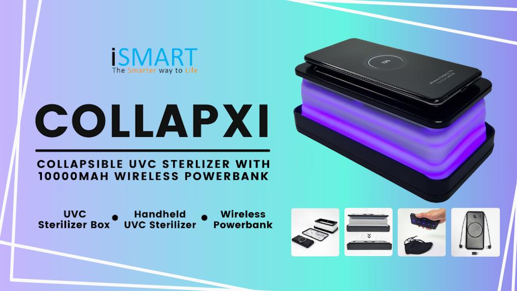 COLLAPXI - Collapsible UVC Sterilizer Wireless Powerbank