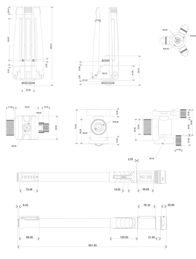 MOZA Slypod Pro 三合一電動滑軌相機獨腳架