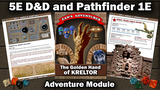 The Golden Hand of Kreltor - 5E DND and Pathfinder 1E thumbnail