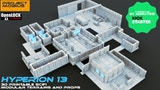 Hyperion 13 - 3D printable scifi modular tiles and props thumbnail