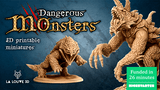 Dangerous Monsters - 3D printable STL files thumbnail