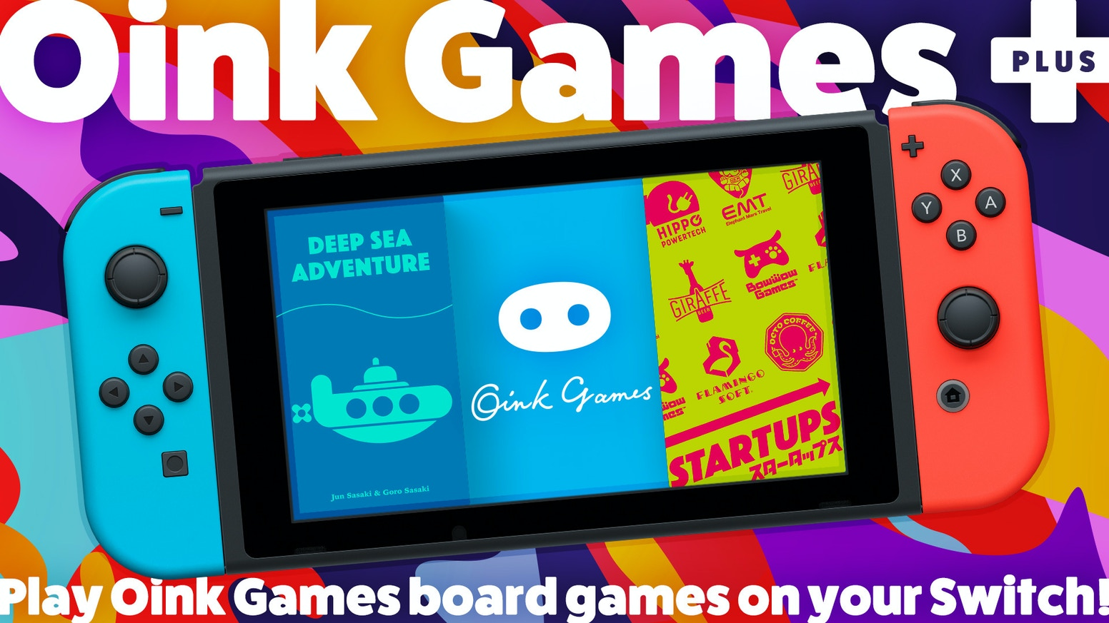 Play Oink Games board games on your Switch!