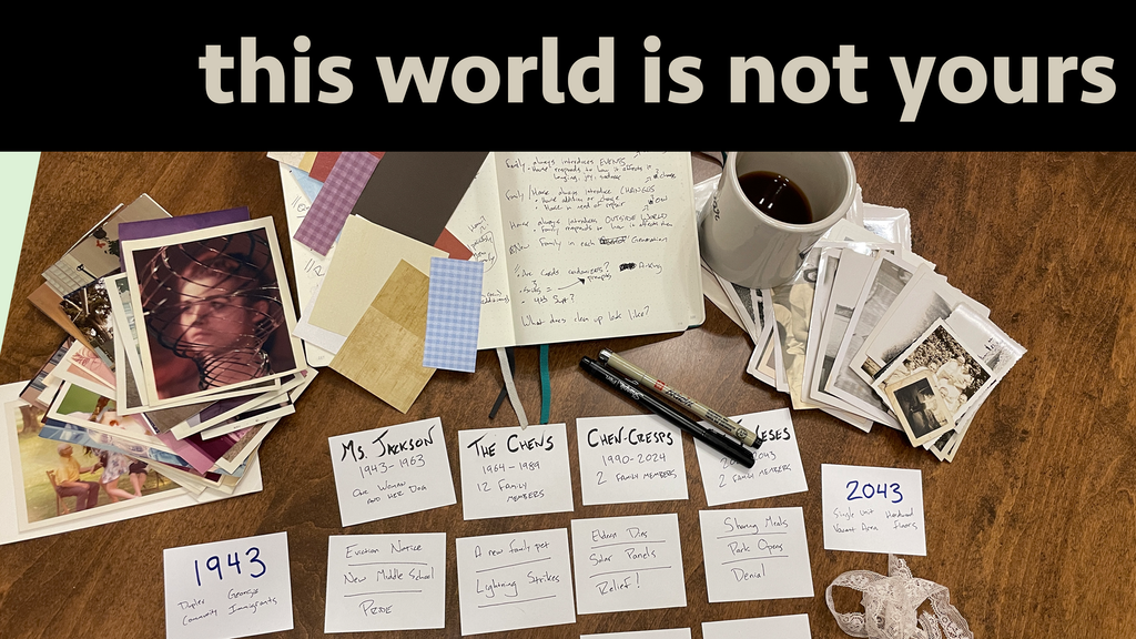 this world is not yours: an RPG zine