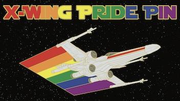 X-Wing Pride Pin