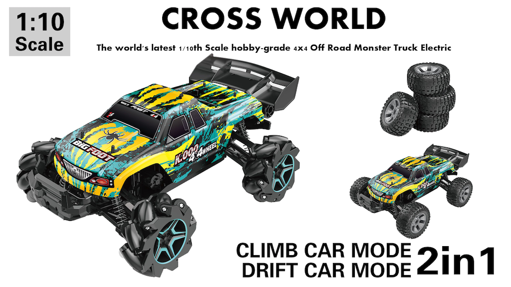 CROSS WORLD -The two modes 4x4 Off Road Monster Truck
