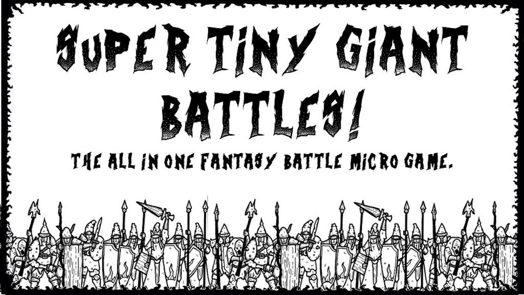 Super tiny giant battles