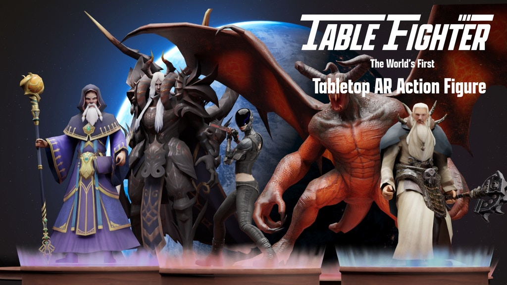 Table Fighter: The First Tabletop AR Action Figure