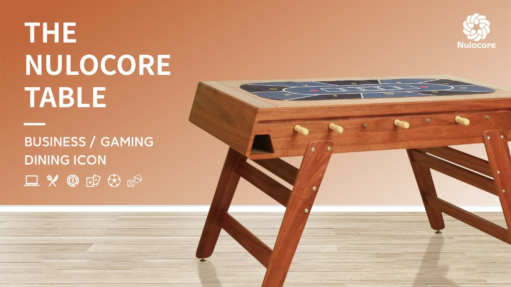 Nulocore Dining Foosball Table: Business &Gaming&Texas Poker