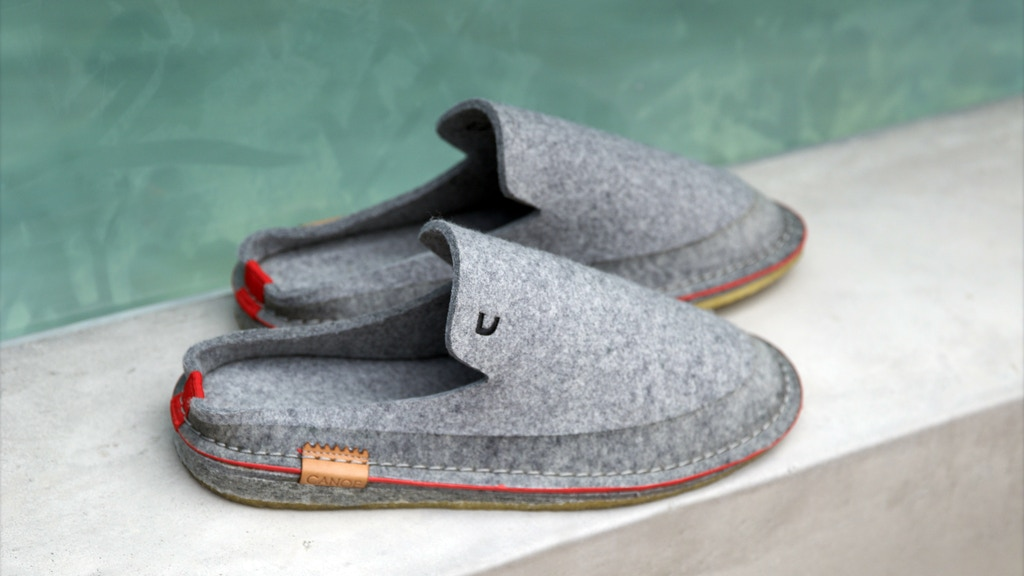 Clean, classic, sustainable slippers by Canoe