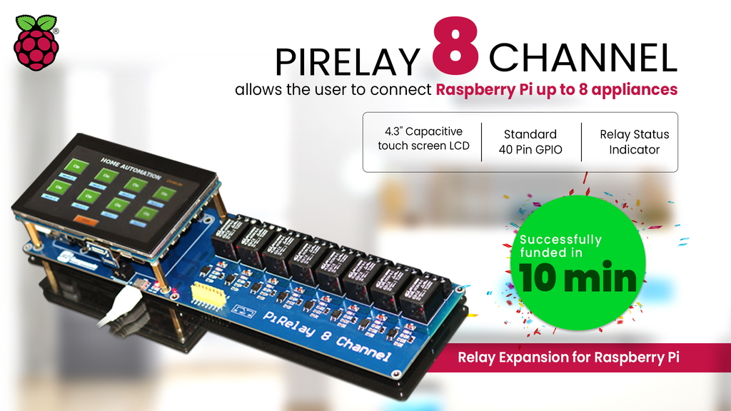 PiRelay 8 | Relay Expansion Board For Raspberry Pi