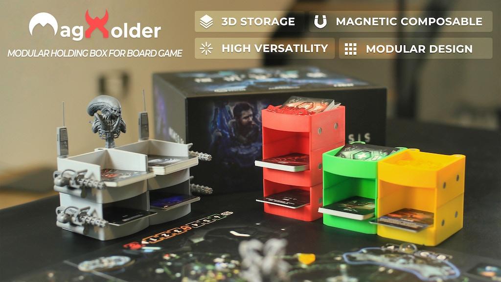 MagHolder—Multi-functional modular card-token holding box
