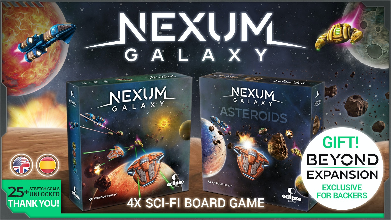 A 4X Sci-Fi game: eXplore, eXpand, eXploit, eXterminate. Lead your civilization to victory using NEXUM technology and rule the Galaxy!