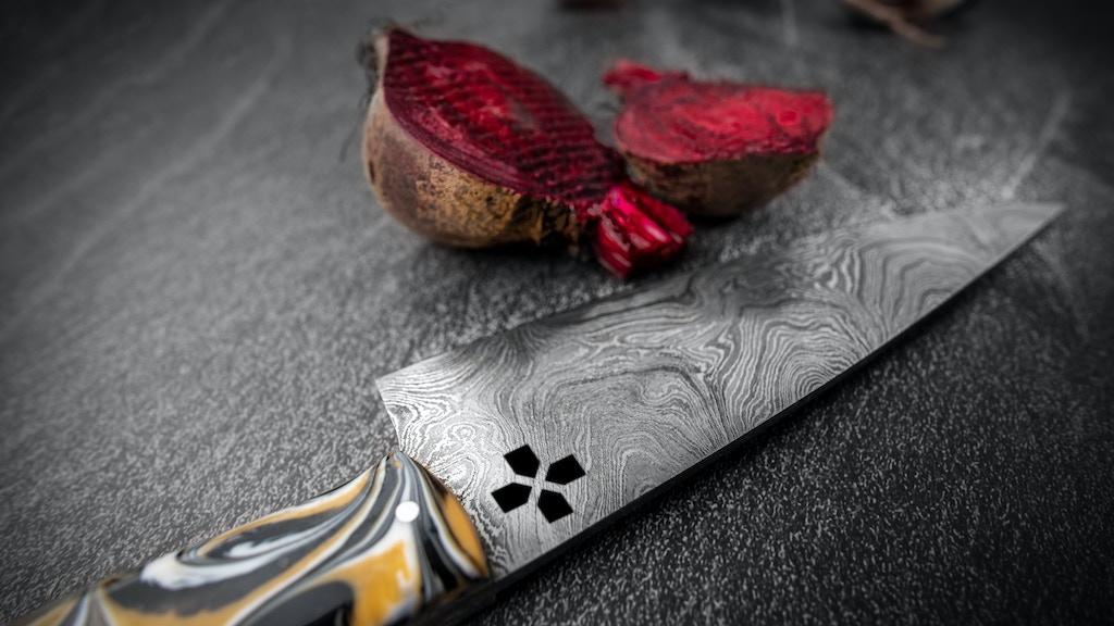 LARZO - DAMASCUS CHEF KNIFE SET ( TOLEDO DAMASCUS STEEL )