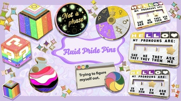 Pride Hard Enamel pins 🌈 Share pronouns, sexuality, gender