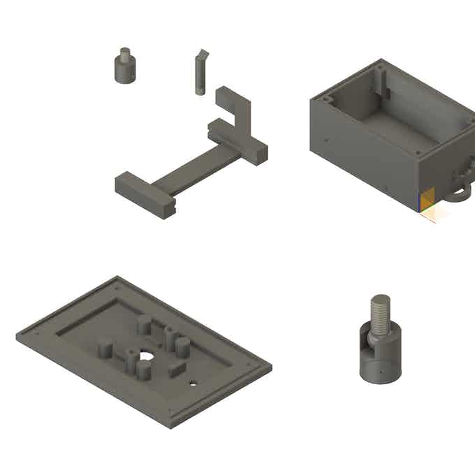 3D Printed Parts (Some Parts are not shown)