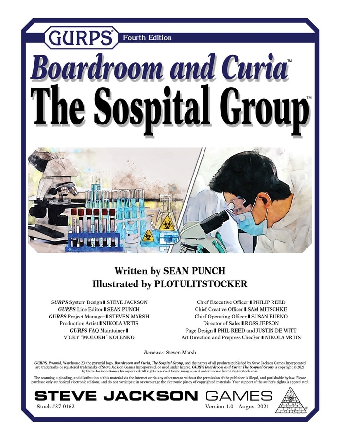 GURPS Boardroom and Curia: The Sospital Group