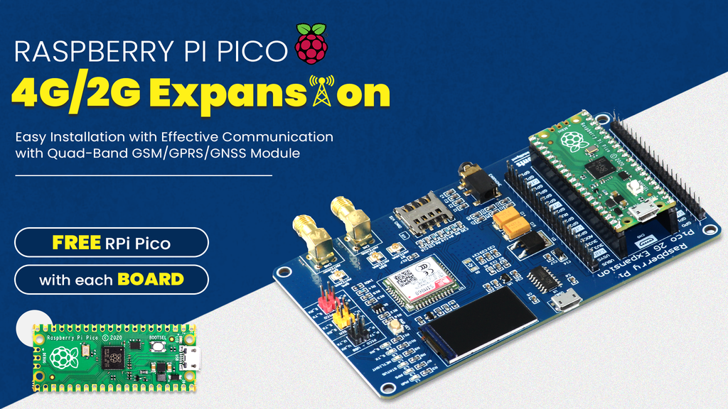 Pico 2G/4G Expansion: Setup Global Connectivity with Pico