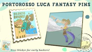 Fantasy Enamel Pins: Luca Alberto Portorosso Disney Pixar