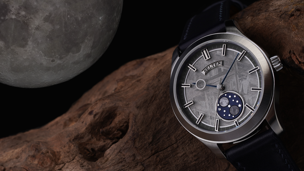 An Out-of-This-World Automatic Watch Made from Meteorite