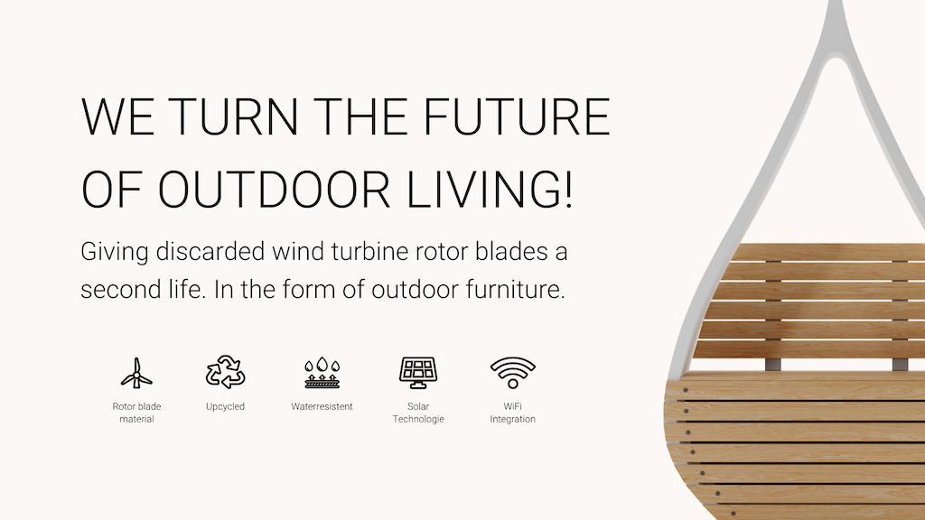 Wings - Outdoor furniture from upcycled rotor blades