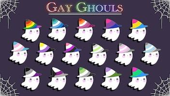 Gay Ghouls: Pride Enamel Pins