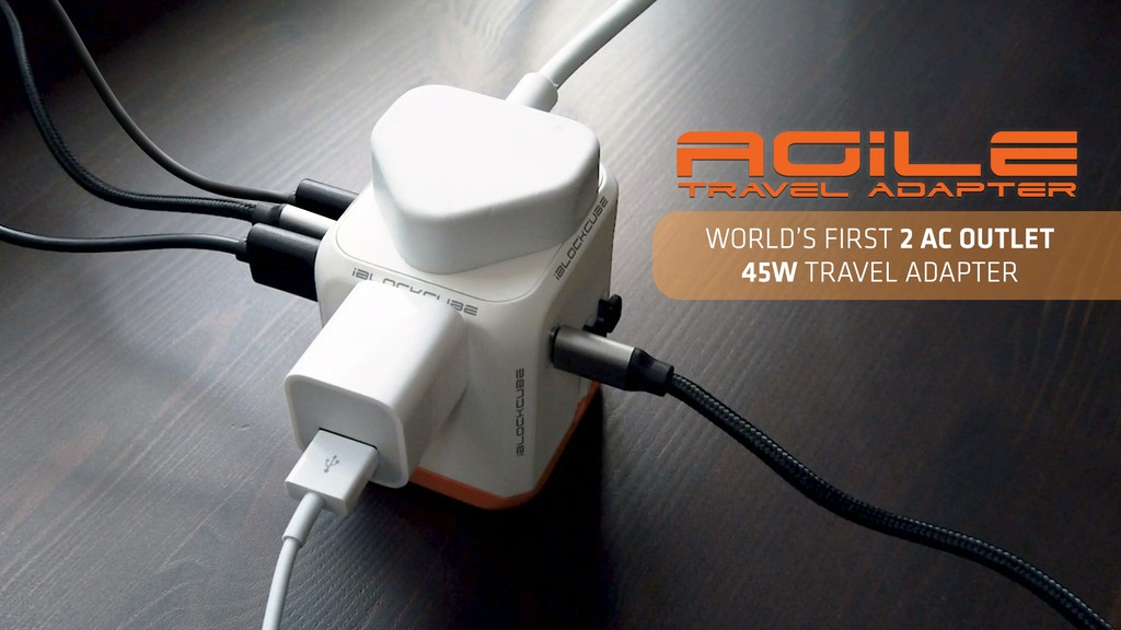 Agile: World's First 2 AC Outlet 45W Travel Adapter