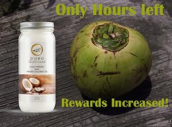 ENDING SOON!! 100% Raw Organic Coconut Oil