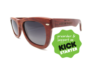 Arrow Project 100% Bamboo Wood Sunnies (sunglasses)