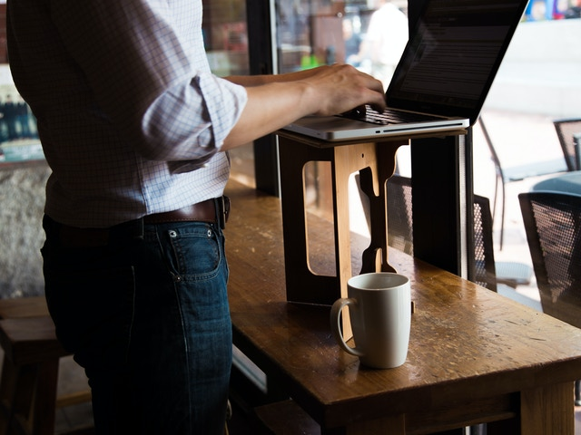 Standstand The Portable Standing Desk By Luke Leafgren