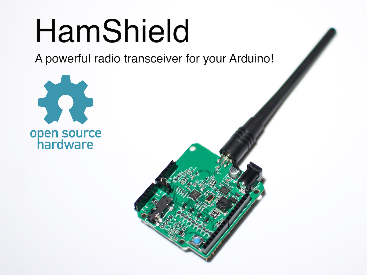 Hamshield for arduino vhf uhf transceiver by casey