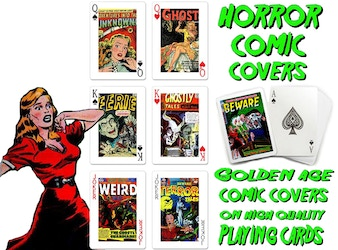 Golden Age Horror Comic Book Cover Playing Cards