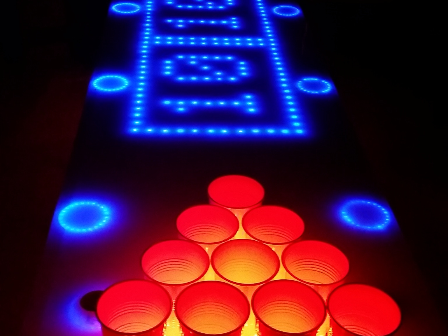Interactive led beer pong table kit bpt x5 by jeff nybo - Interactive led beer pong table ...
