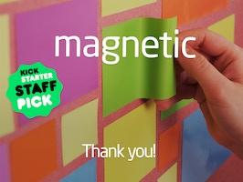 こんなポストイットが欲しかった。書いても消せる、どんな壁でも貼り付けられる「MAGNETIC」 6番目の画像