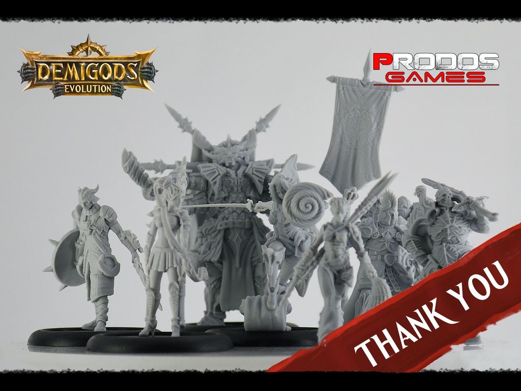 Explore the fantasy world of Demigods Evolution with customizable 35 mm resin miniatures. Game is available in 4 languages.