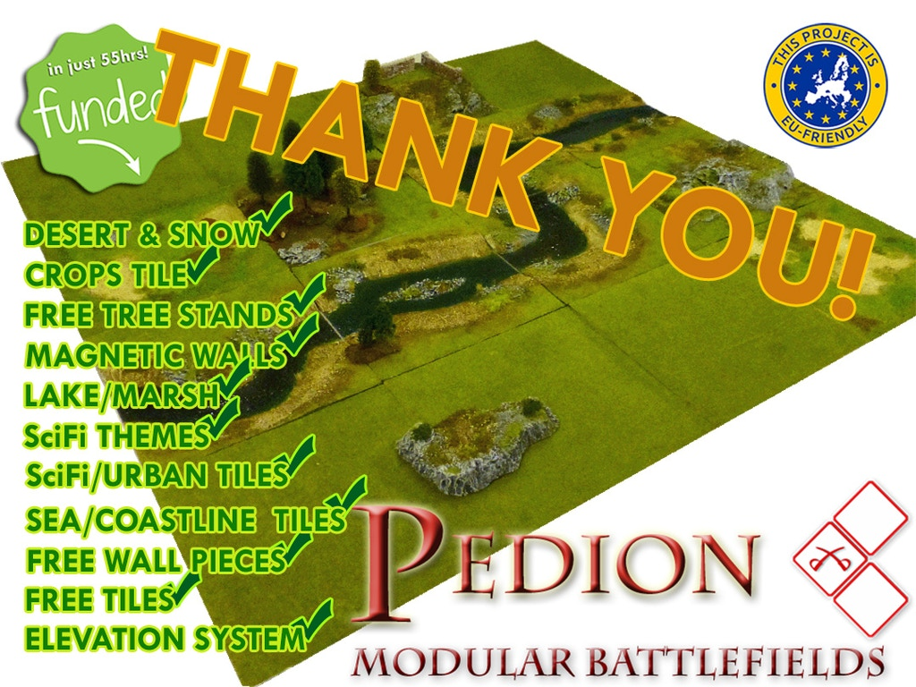 Pedion - Modular Wargame Battlefields | Wargames | BoardGameGeek