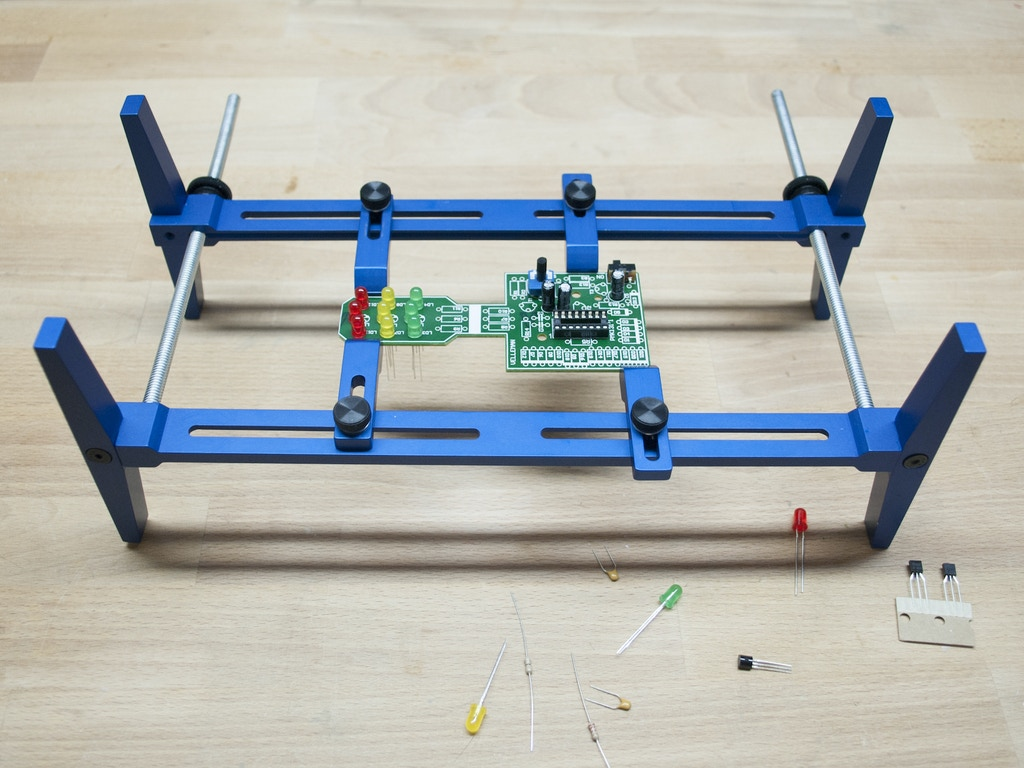 Printed Circuit Board Holder For Repair Prototyping And Assembly