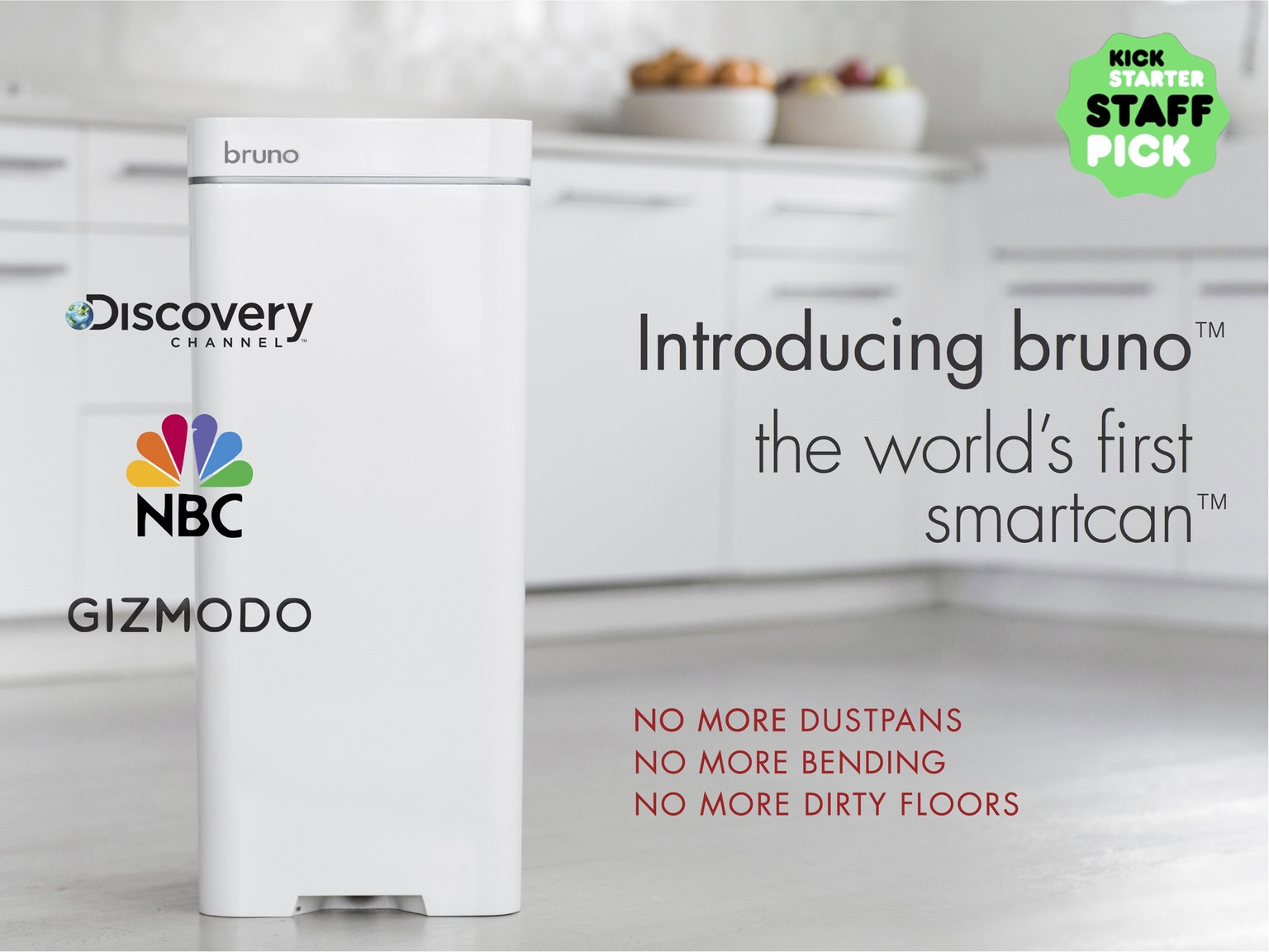 Trash Can Vacuum Bruno The World S First Smartcan By